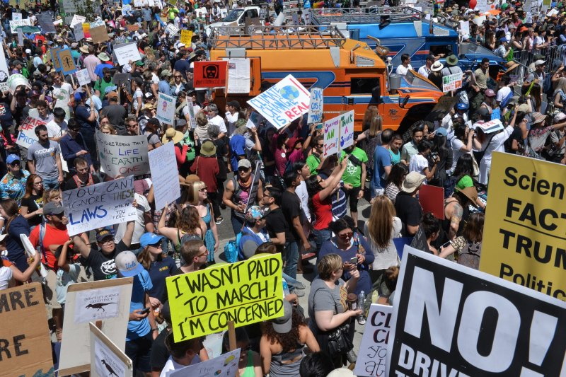 Crowds March For Science In Global Earth Day Protest