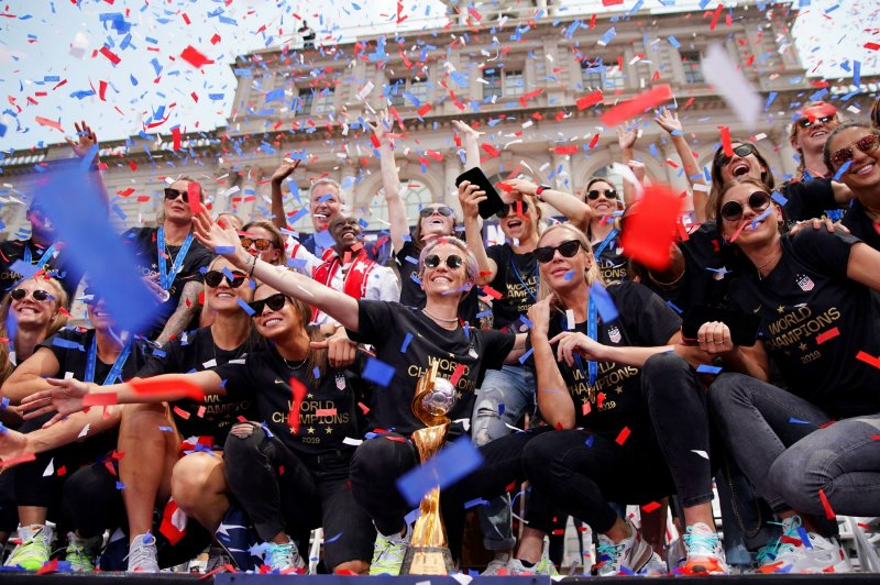 Rapinoe at NYC parade: 'We're so much more' than female