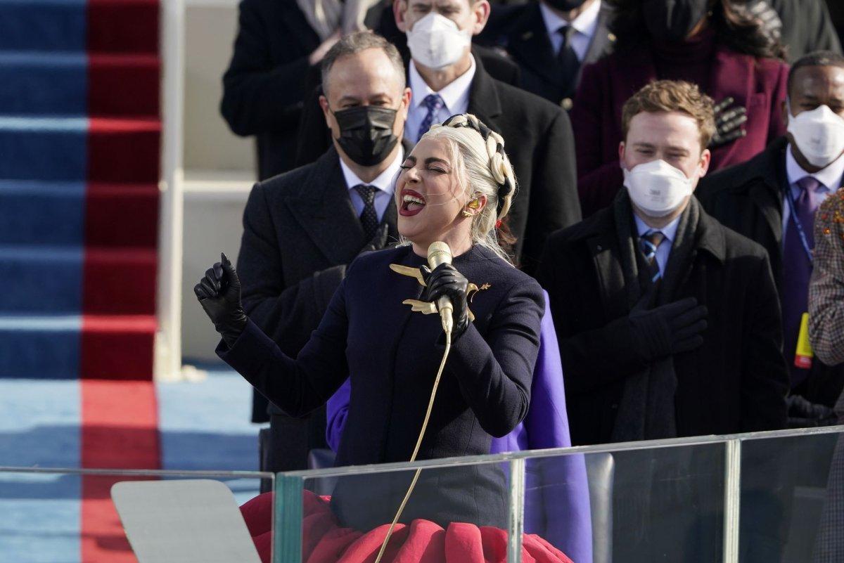 Lady Gaga wears dove brooch on Inauguration Day: 'May we ...