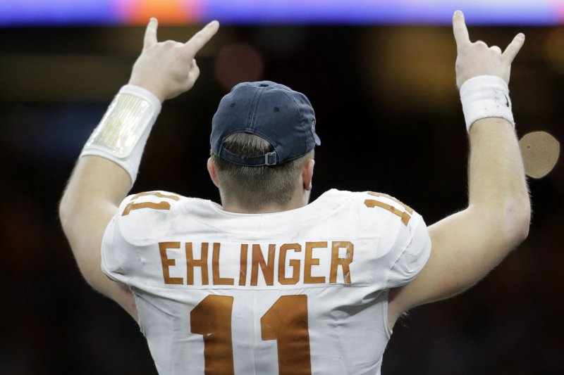 half off e3093 d7155 Watch: Sam Ehlinger leads Texas over Georgia at Sugar Bowl ...