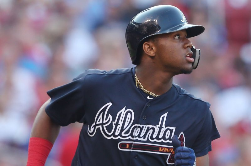 Watch: Braves' Ronald Acuna Jr. hits homer from knee vs ...