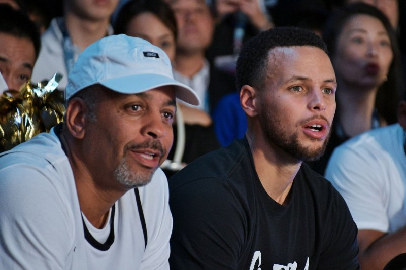 State Farm Report Accident >> Watch: Stephen Curry's mom, Sonya, shows off range with half-court shot - UPI.com