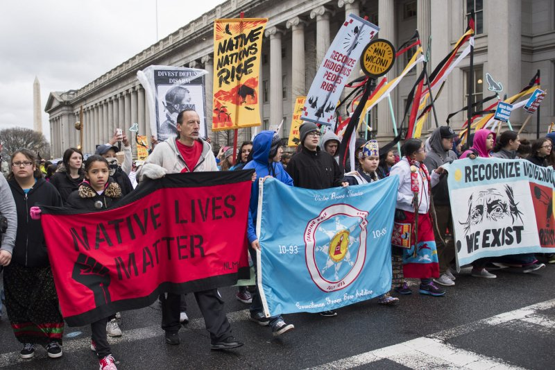 news tribe members opponents march halt dapl keystone