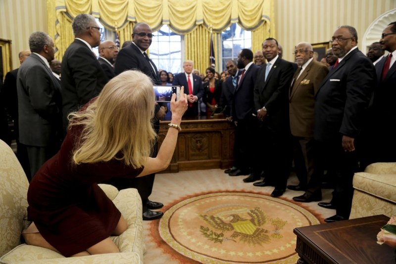 Twitter Reacts To Kellyanne Conway S Feet On Oval Office