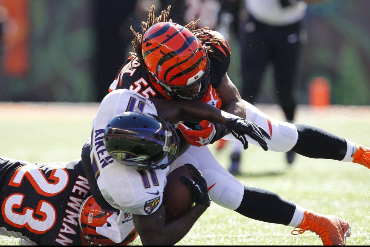 the latest 18b27 7e6d2 Cincinnati Bengals' Vontaze Burfict faces Pittsburgh ...