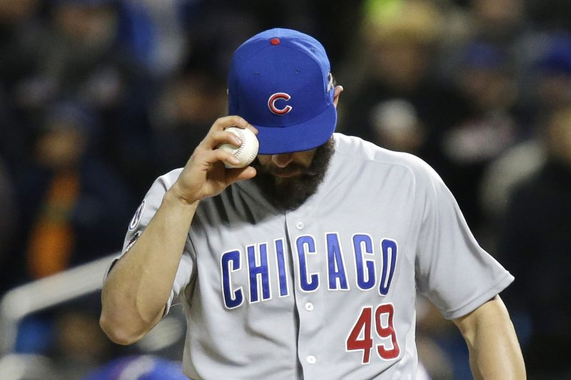ef8040a1c02 Chicago Cubs  Jake Arrieta to pitch Opening Day - UPI.com