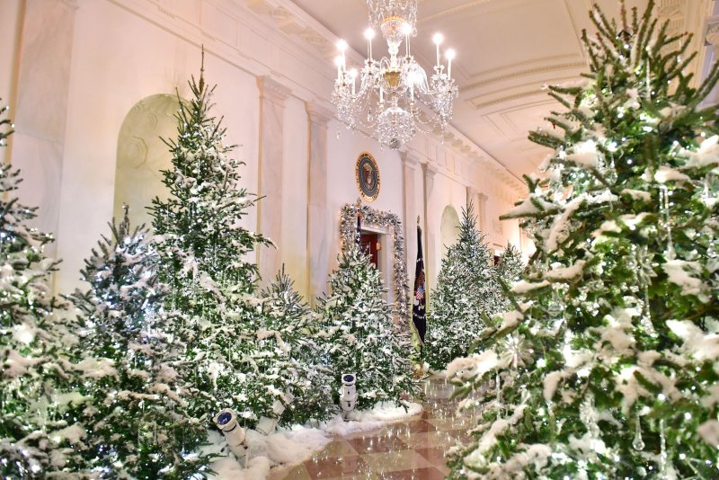 White Christmas Tree With White Decorations