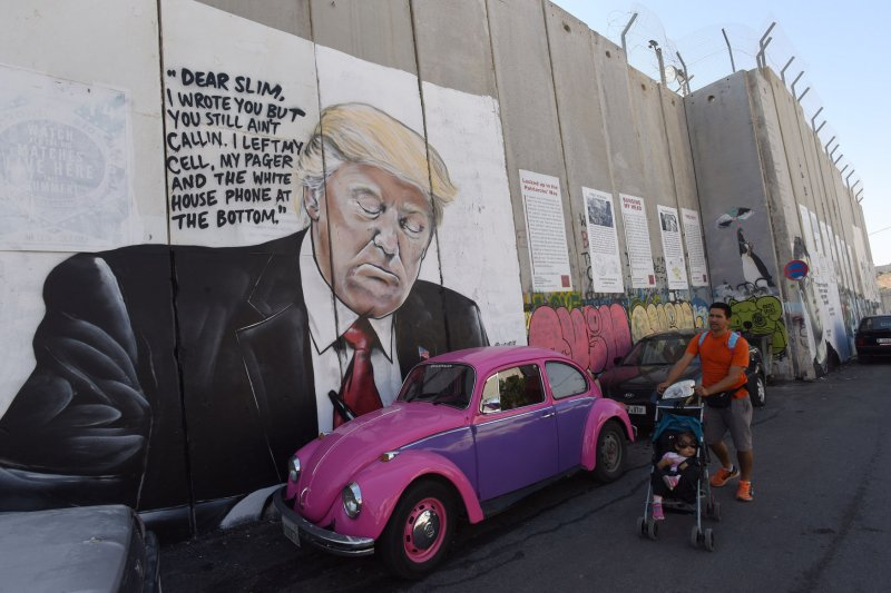 Vw Of America >> Donald Trump, Mark Zuckerberg show up in new West Bank graffiti - UPI.com