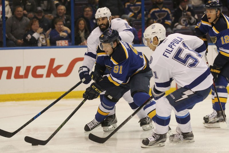 Vladimir Tarasenko Scores Hat Trick In St Louis Blues Win Vs Tampa Bay Ligh