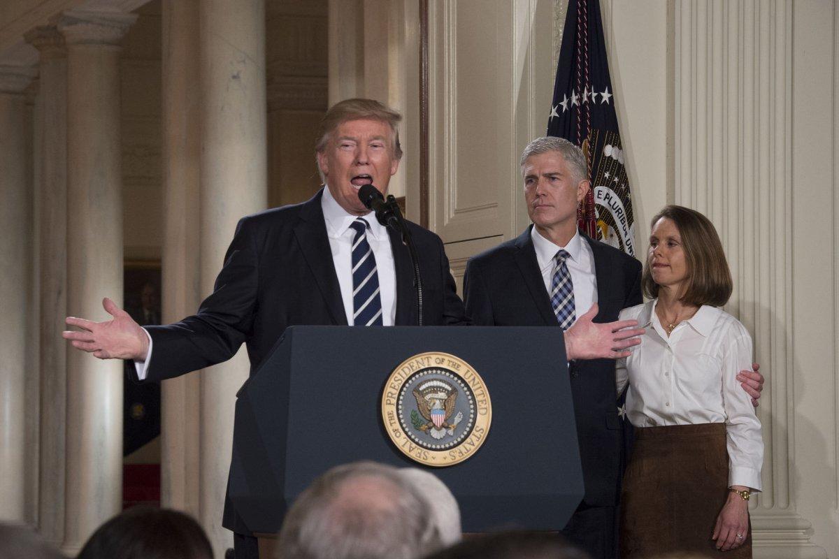 Trump nominates... Judge Neil Gorsuch