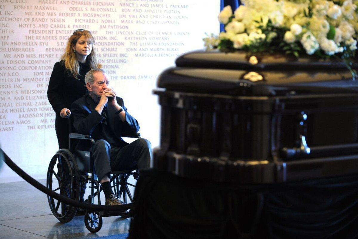Nancy Reagan Buried Next To Former President Husband Near