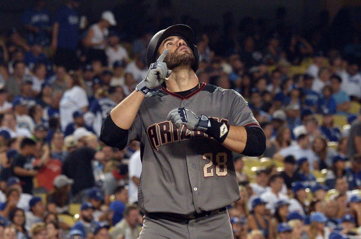 c07896d5 Arizona Diamondbacks' J.D. Martinez hits four homers in rout of Los Angeles  Dodgers
