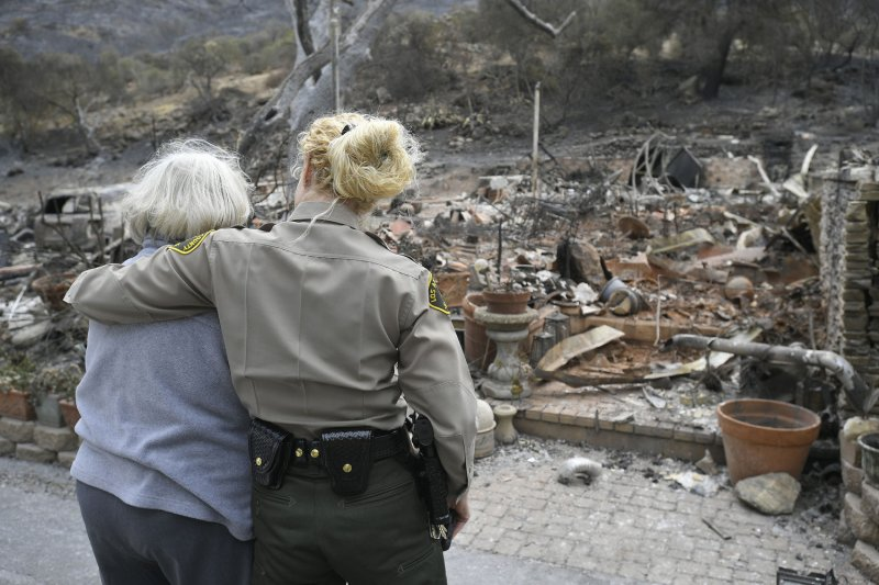 Firefighters In California Combat Woolsey Fire Flare Up