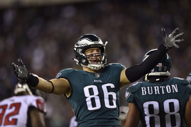 Philadelphia Eagles tight end Zach Ertz likely will keep his eyes on the  field during Super Bowl LII even when his offense is on the sideline. ff9d1fcfd