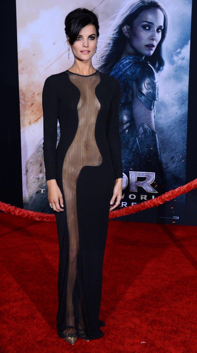 Jaimie Alexanders Revealing Thor Premiere Dress Was