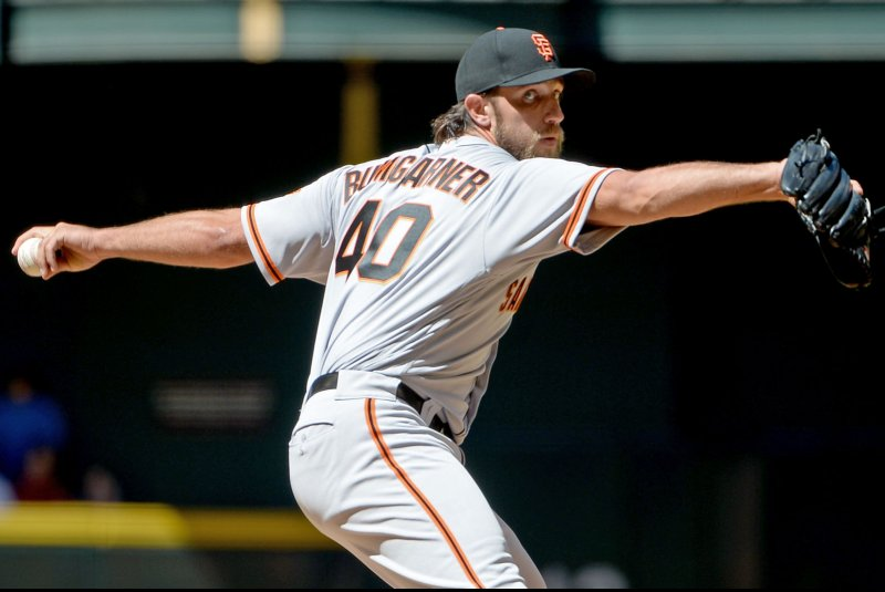 finest selection 21703 cc1d8 April 21 (UPI) -- The San Francisco Giants sent ace Madison Bumgarner to  the 10-day disabled list Friday after he injured his left shoulder riding a  dirt ...