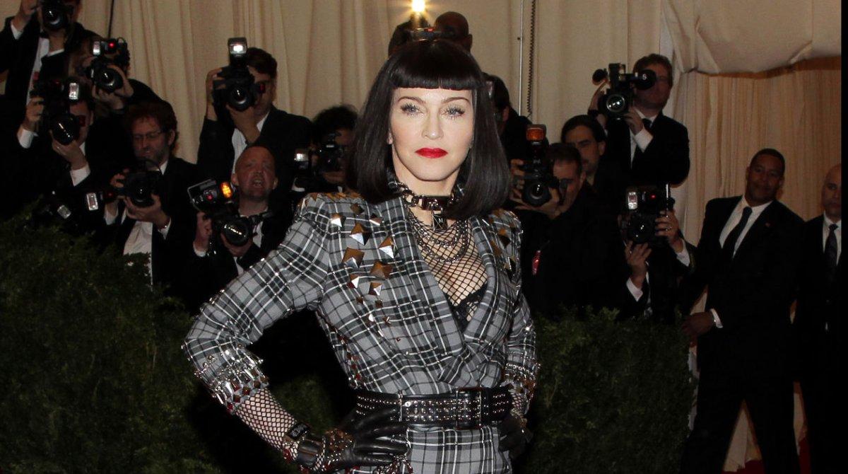 Madonna Met Gala 2013 The Singer Goes Pant Less Rocks
