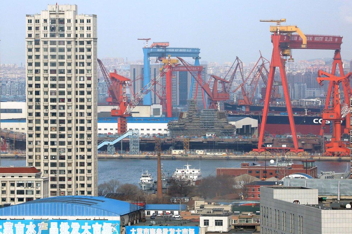 China makes progress on second aircraft carrier - UPI.com