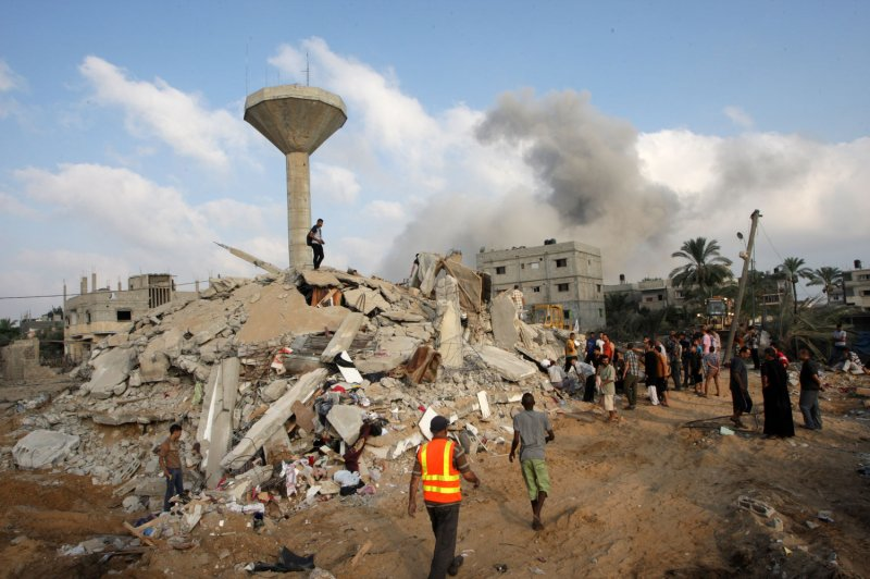 Gaza S Only Power Plant Bombed By Israel Targeting Hamas