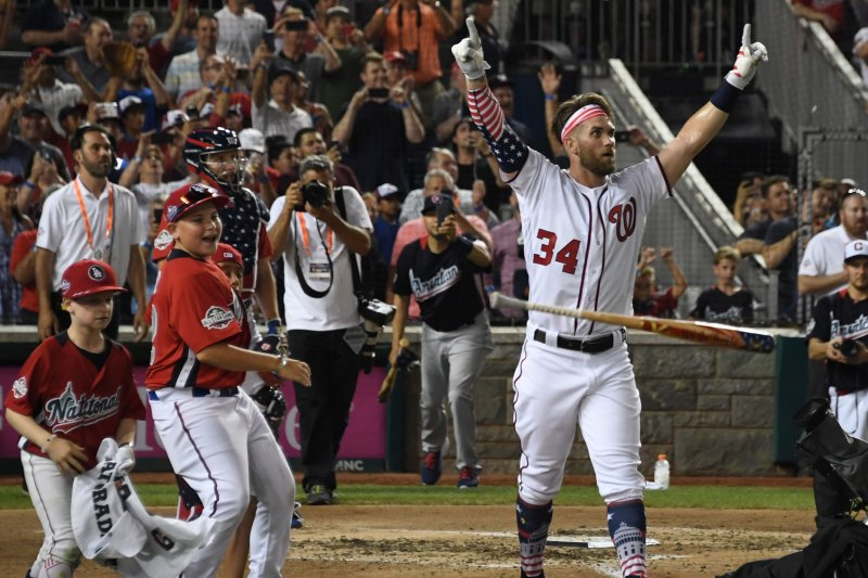 Watch: Nats' Bryce Harper hacks 9 bombs in 47 seconds to ...