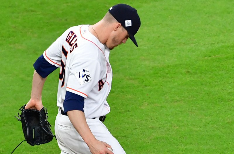 Watch Astros Pitcher Giles Punches Himself In Face After