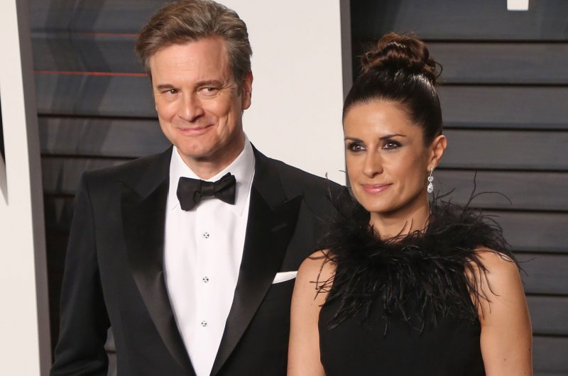Colin Firth and wife c...