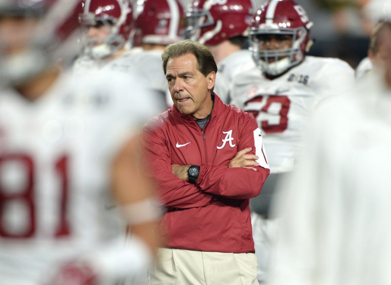 457f613da Nick Saban is part of the four-team College Football Playoff for the third  consecutive season and the Alabama coach was quick to make a crucial  observation.