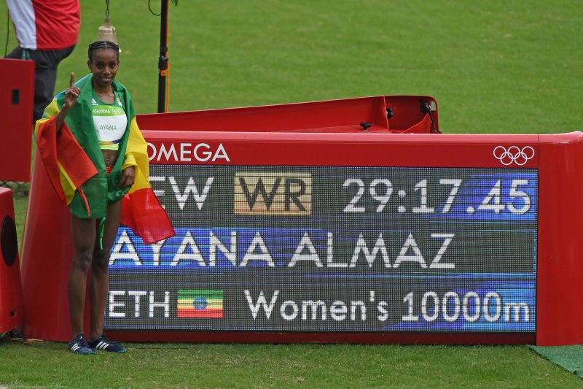 Optag Brændt Etiopiens Almaz Ayana Breaks 10.000 World Record - Unicom-8778