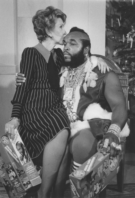 mr t and nancy reagan unveil white house christmas