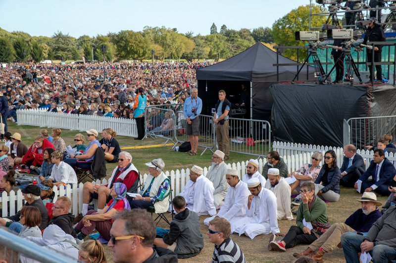 New Zealand Mosque Attack Photo: 20,000 Attend Memorial For Victims Of New Zealand Mosque