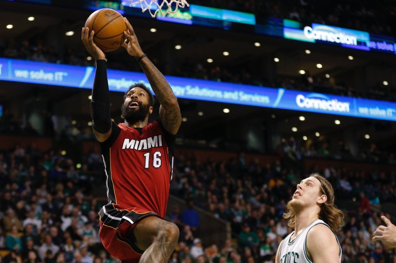 Watch Heat S James Johnson Posterizes Kyrie Irving Upi Com
