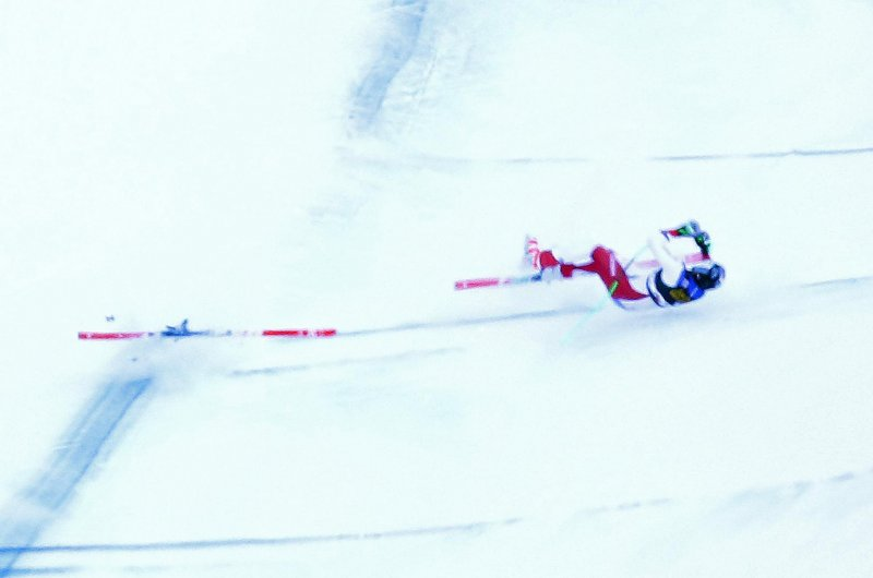 Swiss skier Marc Gisin hurt in high-speed World Cup crash