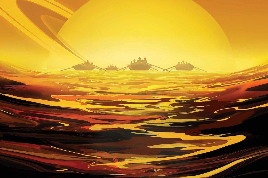 New far-out NASA 'travel' video: kayaking on Titan, skydiving on exoplanet - UPI News