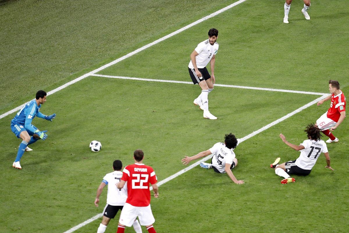 Watch: Cheryshev scores on nutmeg in Russia's World Cup win vs. Egypt - UPI.com