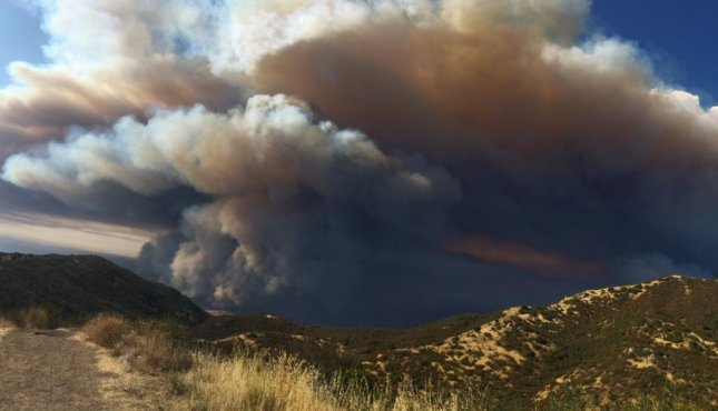 The Blue Cut Fire has been put out east of Los Angeles, but several other continue to burn in the California including the Rey Fire (above) north of Los Angeles in Santa Barbara County as well as the Chimney Fire currently threatening national landmark Hearst Castle. Photo by Cal Fire/Twitter.