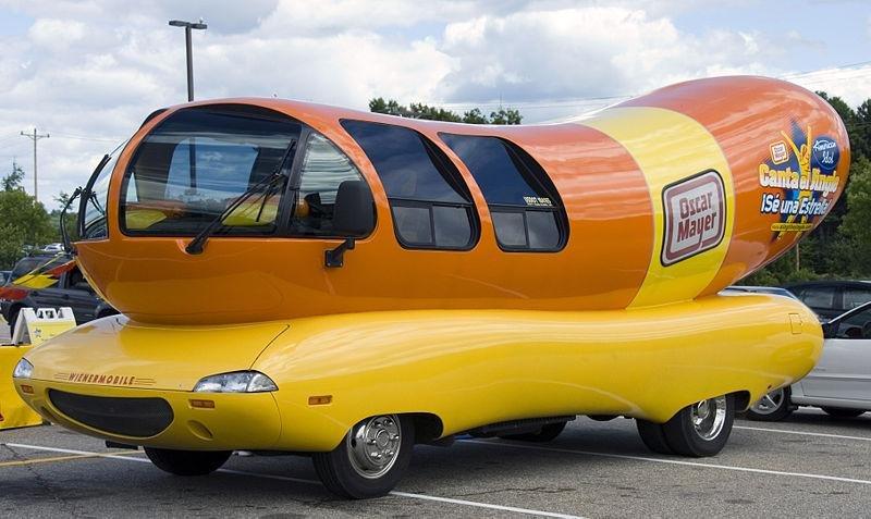 The Oscar Mayer Bologna Wienermobile in Gilford, New Hampshire. (CC/Scott)