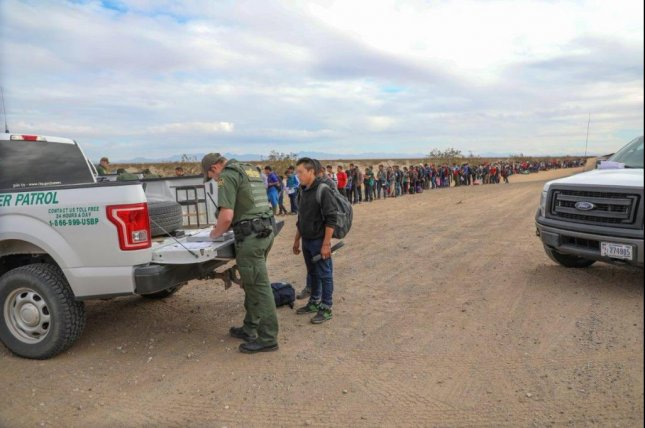 Border Patrol agents processed a group of 376 Central American migrants on Monday. It has since been revealed that they represent the largest single group to cross the border. Photo courtesy of CBP Arizona.