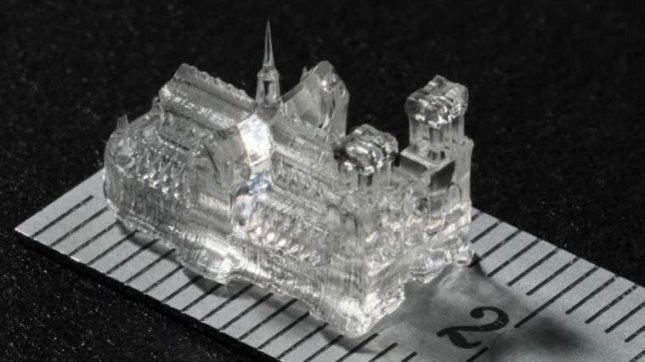 Researchers say that a new method of 3D printing in a pressure-free environment that may allow for better production of soft materials, such as gels and organs. Photo by Ecole Polytechnique Federale de Lausanne