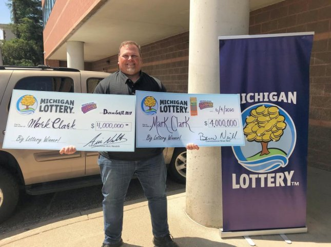 A Michigan man won a $4 million jackpot from a scratch-off lottery ticket just three years after winning the same amount from a different lottery game. Photo courtesy of the Michigan Lottery