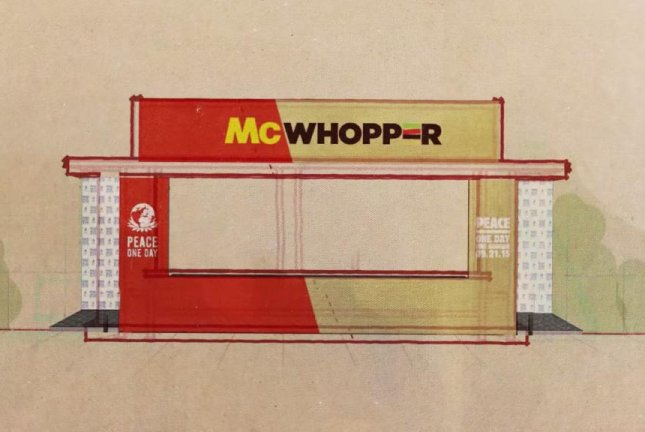 The proposed McWhopper pop-up restaurant. Burger King/YouTube video screenshot