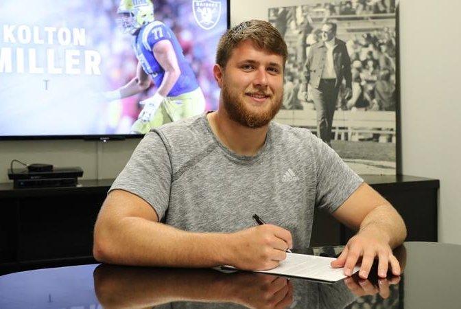 Oakland Raiders sign first-round pick Kolton Miller - UPI.com