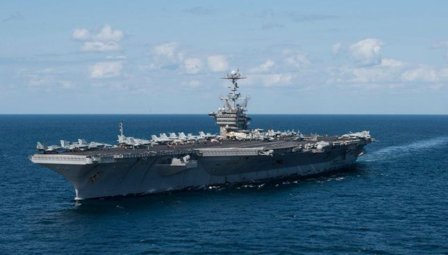 The aircraft carrier Harry S. Truman, which arrived in Norfolk, Va., in June after seven months at sea, will undergo maintenance at the Norfolk Naval Shipyard, the Navy announced on Wednesday. Photo by MCS3 Taylor M. DeMarino/U.S. Navy