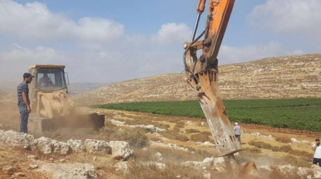 Construction began Tuesday on Amichai, the first West Bank community for Israeli settlers in 25 years, It will replace Amona, demolished earlier in 2017 after it was determined the outpost was built on Palestinian-owned land. Photo courtesy of Prime Minister Benjamin Netanyahu/Facebook