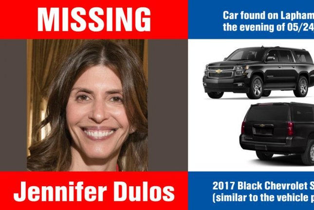 Jennifer Dulos was reported missing on May 24 and had been involved in a custody battle for her children, officials said. Photo courtesy New Canaan Police Department