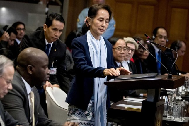 Image result for Suu Kyi, who is now Myanmar's leader
