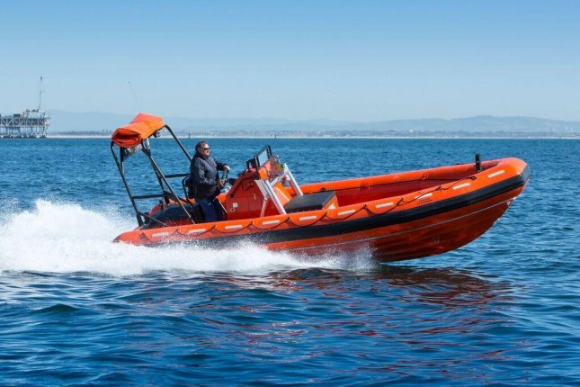 Willard Marine's SOLAS 670 rescue boat can reach speeds up to 26.5 knots and carry nine passengers. Photo courtesy of Willard Marine
