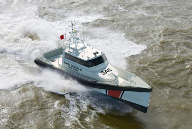 The MTU engines will power search-and-rescue vessels used by Turkey's coastguard. Photo courtesy of Rolls-Royce
