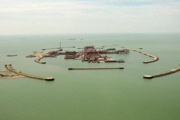 More than 7 million barrels of oil produced and exported from the Kashagan oil field off the coast of Kazakhstan since late 2016. Photo courtesy of the North Caspian Operating Company.