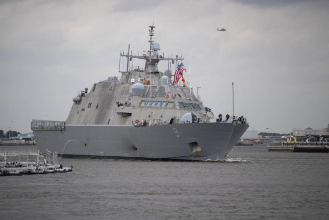 The Freedom-class littoral combat ship USS Little Rock departs Mayport, Fla. for the ship's maiden deployment. BAE Systems has won a $24.6 million contract for post-shakedown availability for another Freedom-class vessel. Photo by Devin Bowser/U.S. Navy