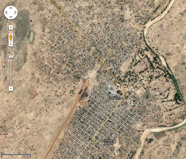 Am Timan, Chad. Credit: Google maps